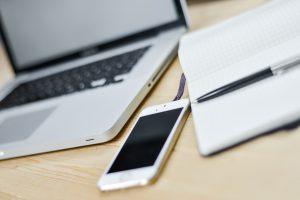 Desktop with iPhone