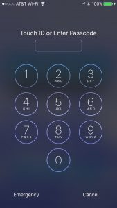 Locked iPhone