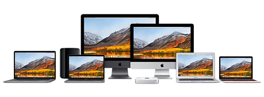 Many iMac on desks