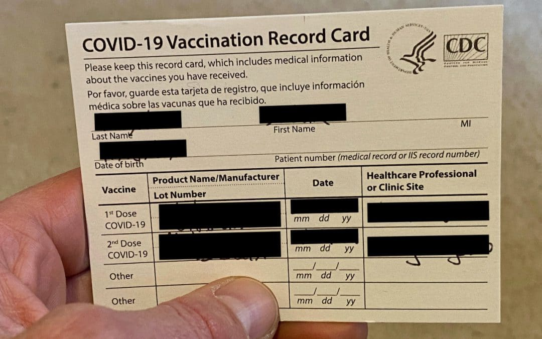 Privacy Tip: Don't Post Vaccination Record Cards on Social Media